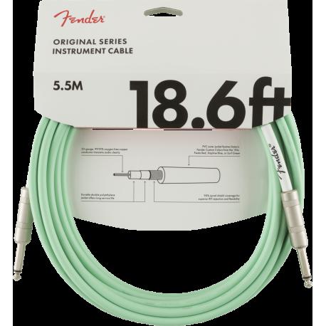 Fender Original Series Instrument Cable, 18.6', Surf Green