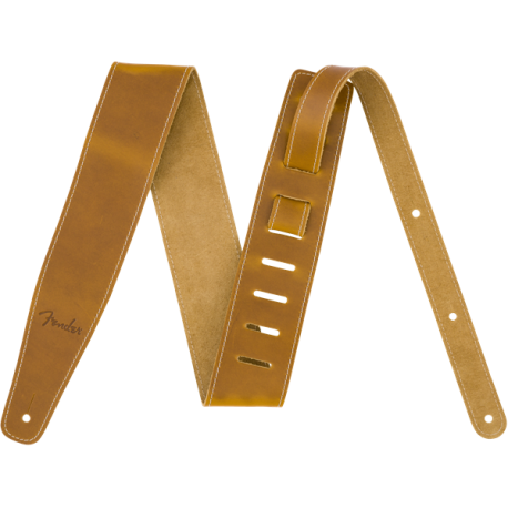 "Correa Fender Broken-In Leather Strap, Natural 2.5"""