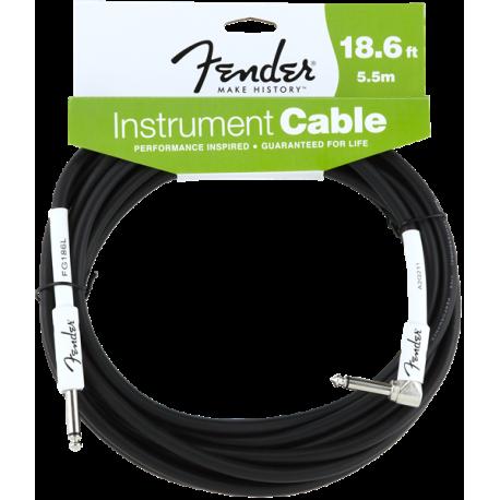 Fender Fender® Performance Series Instrument Cable, 18.6', Angled, Black