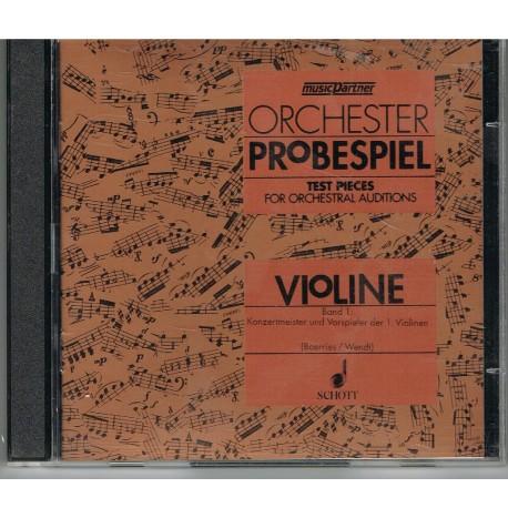 Varios. Orchester Probespiel Violín Vol.1 Solo CD (2 CDs). Schott
