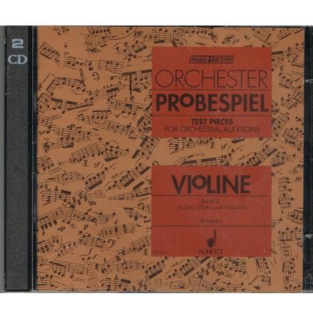 Varios. Orchester Probespiel Violín Vol.2 Solo CD (2 CDs). Schott