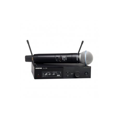 SHURE - Micrófonos Inalámbricos - Sistema SLX-D SLXD24E/B58 H56