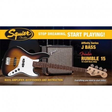 Pack bajo Fender Squier Sunburst + Fender Rumble 15