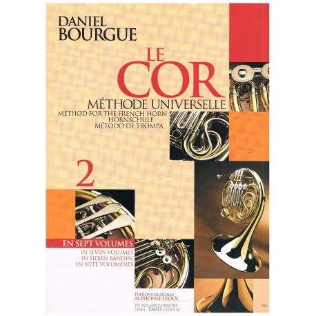 Bourgue, Daniel. Le Cor Vol.2. Methode Universelle. Leduc