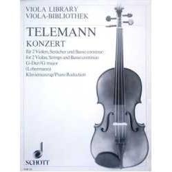 Telemann. Concierto en Sol Mayor (2 Violas y Piano)