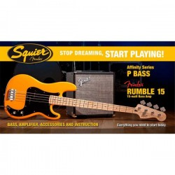 Pack Bajo Fender Squier P Bass