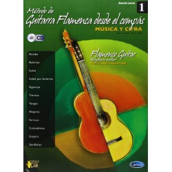 LEIVA LIBRO METODO GUITARRA FLAMENCO COMPAS V1+CD