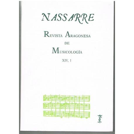 Nasarre. Revista Aragonesa de Musicología XIV, 1 (1998)