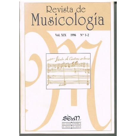 Varios. Revista de Musicología Vol.19 (1996 nº1-2). Sociedad Española de Musicología