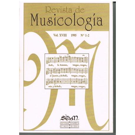 Varios. Revista de Musicología Vol.18 (1995 nº1-2). Sociedad Española de Musicología