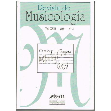 Varios. Revista de Musicología Vol.23 (2000 nº2). Sociedad Española de Musicología