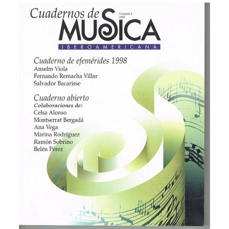Varios. Cuadernos de Música Iberoamericana Vol.5 (1998). SGAE