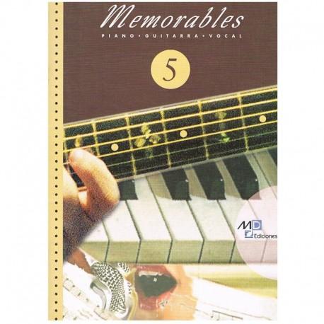 Varios. Memorables 5 (Piano/Voz/Guitarra). Music Distribución