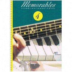 Memorables 4 (Piano/Voz/Guitarra)