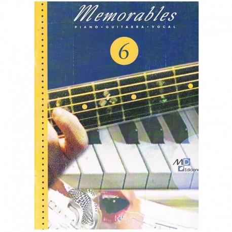 Varios. Memorables 6 (Piano/Voz/Guitarra). Music Distribución
