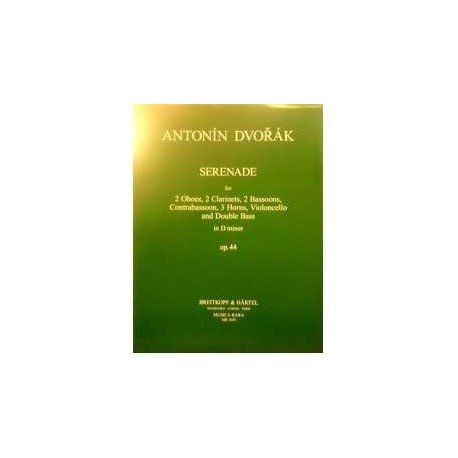 Dvorak.Serenata Op.44 en REm (2 Ob/2 Cl/3 Trompas/2 Fg/Contrafagot/Vc/Cb). Breitkopf