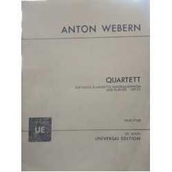 Webern, Anto Cuarteto Op.22 (Violín, Clarinete, Saxofon Tenor, Piano) Partitu