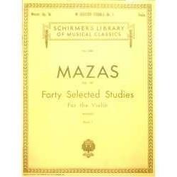 Mazas. 40 Estudios Selectos Op.36 Vol.1 (Violin)