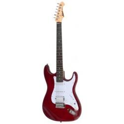 Guitarra ARIA Stratocaster Serie STG 004 rojo
