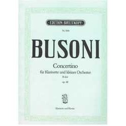 Busoni, Ferr Concertino Sib Mayor Op.48 (Clarinete y Piano)