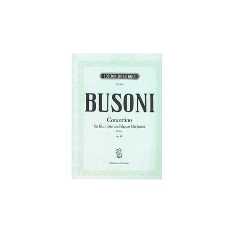 Busoni. Concertino Sib Mayor Op.48 (Clarinete y Piano)