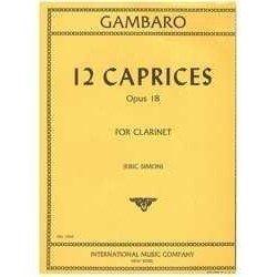 Gambaro. 12 Caprichos Op.18...