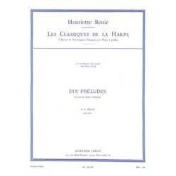 Bach,J.S. 10 Preludios (Arpa)