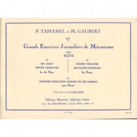 Taffanel/Gaubert. 17 Grandes Ejercicios Diarios de Mecanismo para Flauta