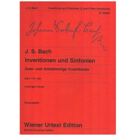 Bach, J.S. Invenciones y Sinfonías a 2 y 3 Voces BWV 772-801