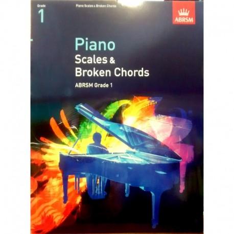 Varios. Scales & Broken Chords Grade 1. ABRSM