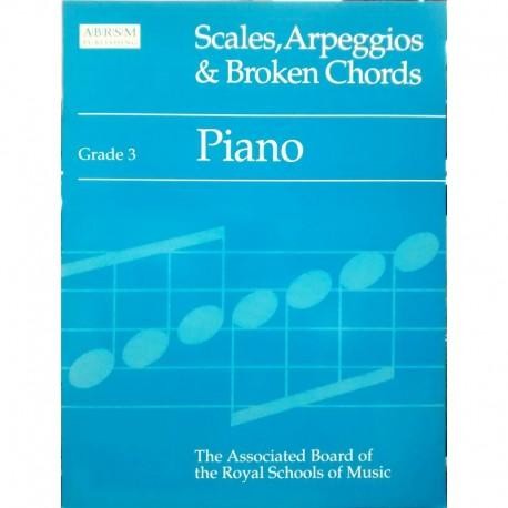 Varios. Scales, Arpeggios & Broken Chords Grade 3. ABRSM