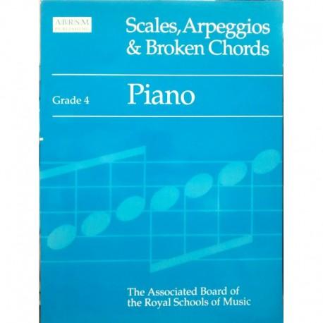Varios. Scales, Arpeggios & Broken Chords Grade 4. ABRSM
