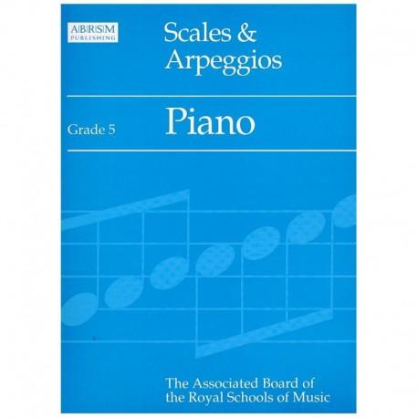 Varios. Scales & Arpeggios Grade 5. ABRSM