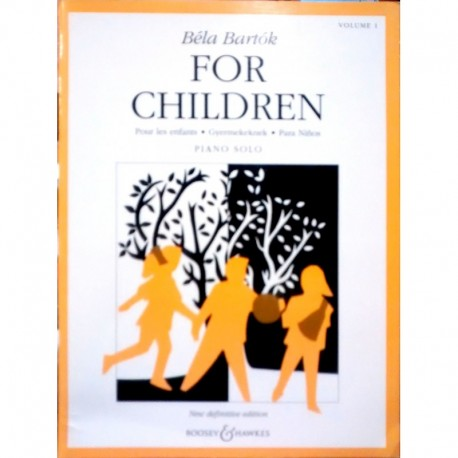 Bartok, Bela. For Children Vol.1 (Piano)