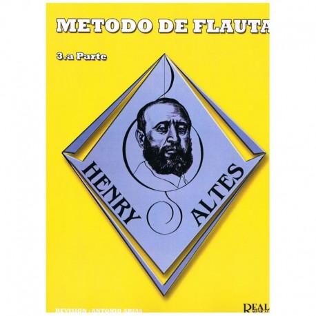 Altes, Henry. Método de Flauta Vol.3 (Antonio Arias). Real Musical