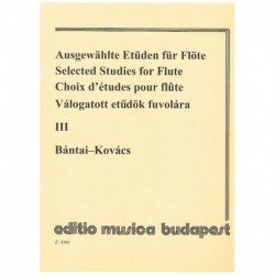Bantai-Kovacs. Estudios Selectos Para Flauta Vol.3
