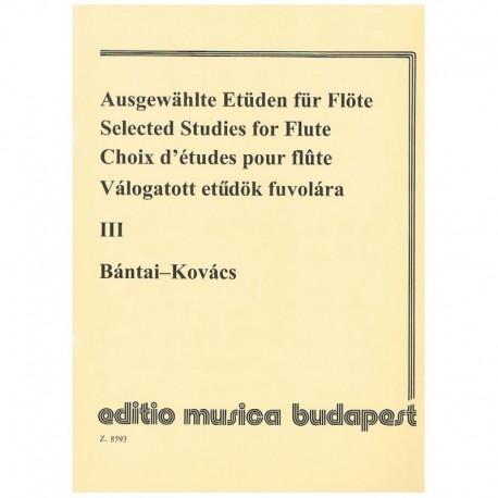 Bantai-Kovac Estudios Selectos Para Flauta Vol.3