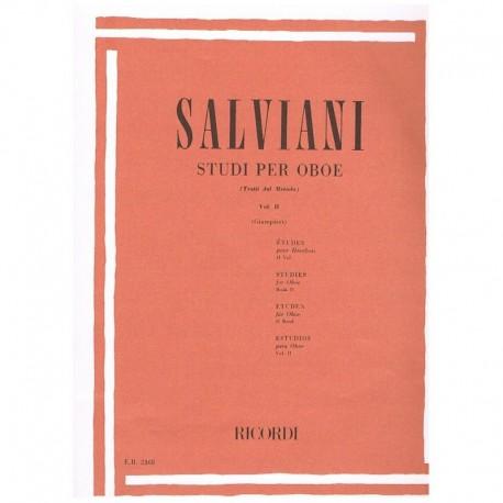 Salviani. Estudios para Oboe Vol.2 (Giampieri). Ricordi