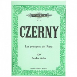 Czerny Los Principios Del Piano. 100 Estudios Faciles