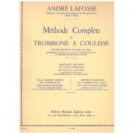 Lafosse, And Metodo Completo de Trombón de Varas Vol.2