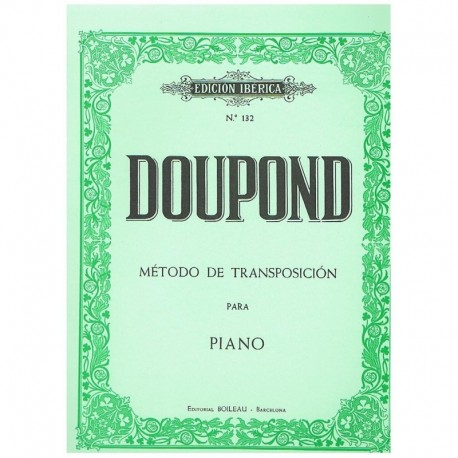 Doupond. Método De Transposición Para Piano. Boileau