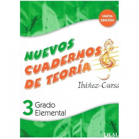 Ibañez/Cursá. Nuevos Cuadernos De Teoria 3. Grado Elemental. Real Musical