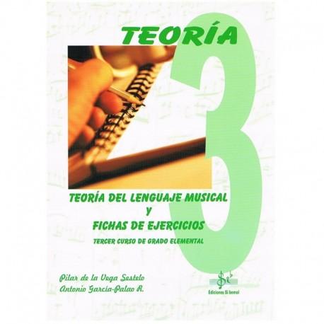 De La Vega/García. Teoría del Lenguaje Musical y Fichas de Ejercicios 3º Grado Elemental. Si Bemol