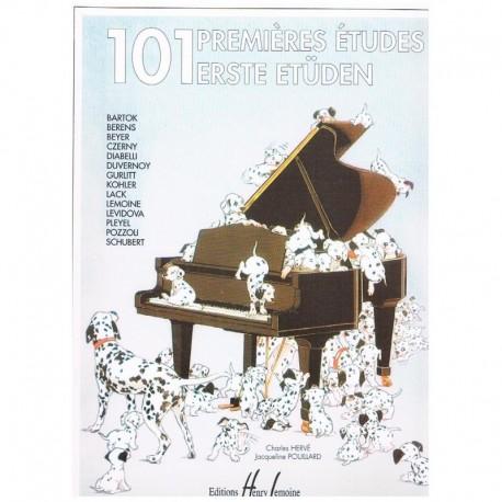Herve/Pouillard. 101 Primeros Estudios (Piano). Lemoine
