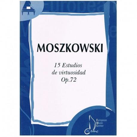 Moszkowski. 15 Estudios De Virtuosidad Op.72