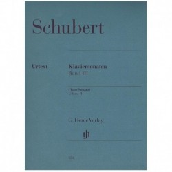 Schubert. Sonatas Para Piano V.3 (urtext)