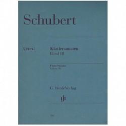 Schubert. Sonatas Para Piano Vol.3 (Urtext)