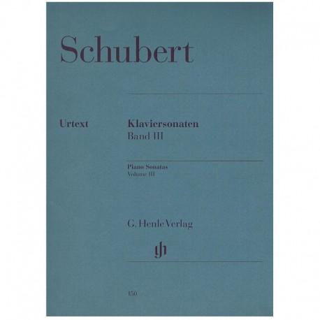 Schubert. Sonatas Para Piano Vol.3 (Urtext) Henle Verlag