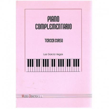Garcia Vegas. Piano Complementario Tercer Curso. Música Didáctica