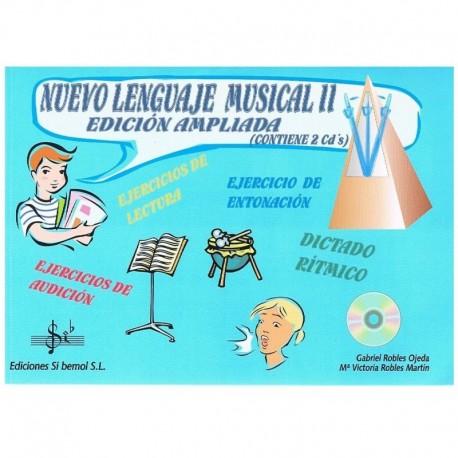 Robles, Gabriel / Robles, Mª Victoria. Nuevo Lenguaje Musical 2 Edición Ampliada +2cd's. Si Bemol